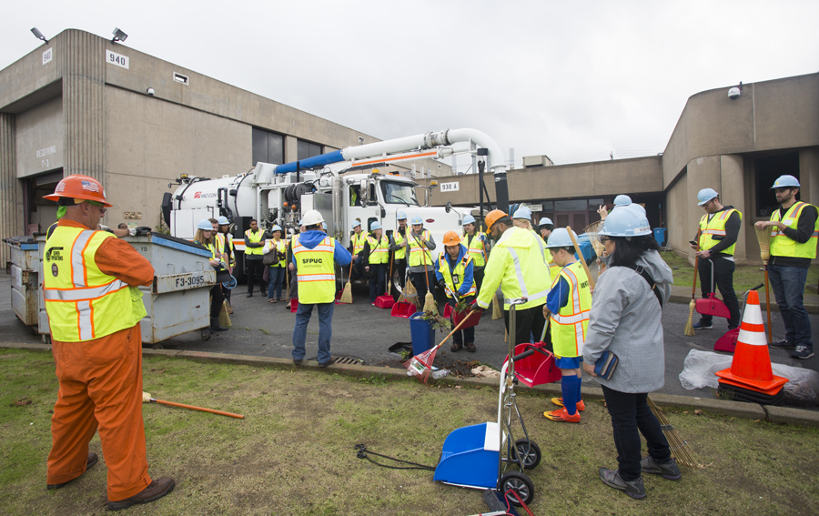 Image of volunteer event held at the Southeast Treatment Plant